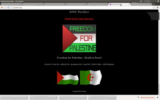 Some assholes go after a site that sides with strict action against Israel but this?