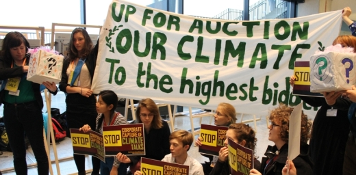 Climate Summit 19 Protesters Pose