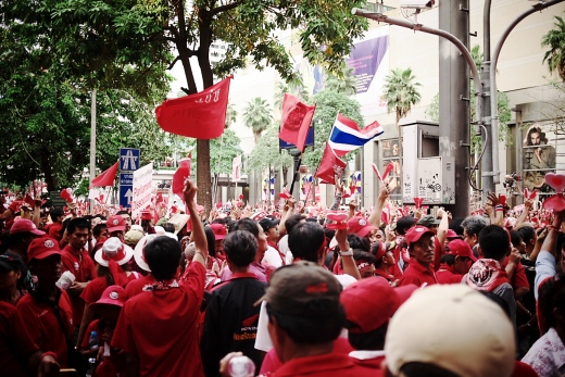 Red shirt protests in Bangkok