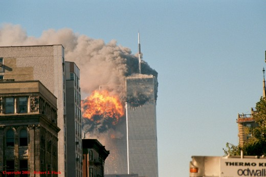 World Trade Center's South tower explosion - 2001