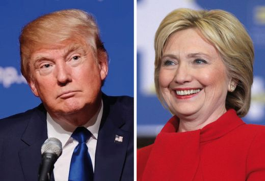 Donald Trump Versus Hillary Clinton at the polls